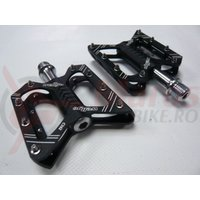 Pedale alu 6061 CNC Wellgo C162 negru anodizat