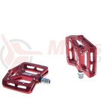 Pedale aluminiu cu rulmenti pini detasabili HT -AN06 rosii