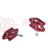 Pedale aluminiu cu rulmenti pini detasabili HT-AX01A rosii