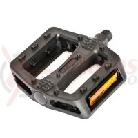 Pedale Bikeforce MTB/BMX nylon/fibra negru