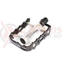 Pedale BikeForce MTB ComfortRace alu negru/silver