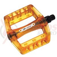Pedale BMX Force plastic transparent portocaliu