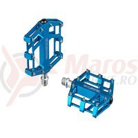 Pedale Exustar MTB/BMX/Enduro CNC albastre