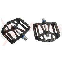 Pedale HTI AE02 BMX-FR-DH aluminiu CNC 2 rulmenti negre