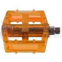 Pedale M-Wave polycarbonat orange transparent 9/16