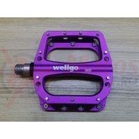 Pedale MTB Wellgo B030 mov anodizat