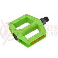 Pedale plastic Copii AUTHOR APD-522-Junior Verde Neon 9/16