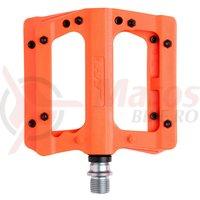 Pedale plastic cu rulmenti cuie detasabile HT-PA 12A orange