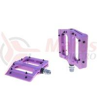 Pedale plastic cu rulmenti cuie detasabile HT-PA 12A purple