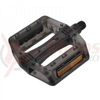 Pedale plastic MTB/Bmx Wellgo B107P negre platforma reflectorizant