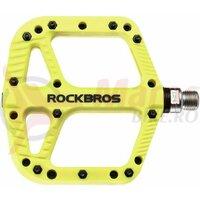 Pedale ROCKBROS MTB Road Bike Nylon Non-Slip 9/16, galben