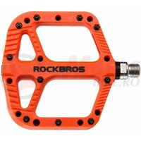 Pedale ROCKBROS MTB Road Bike Nylon Non-Slip 9/16, portocaliu