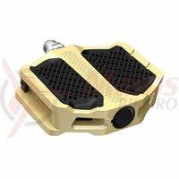 Pedale Shimano PD-EF205, fara catadioptrii, Gold