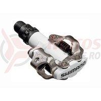 Pedale Shimano PD-M520W SPD cu placute albe