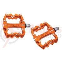 Pedale Wellgo B131 BMX/DH rulmenti cuie schimbabile portocalii
