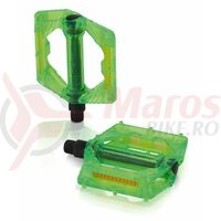 Pedale XLC PD-M16 green transparent