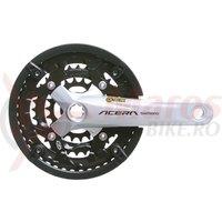 Pedalier Shimano Acera FC-M391-S 44x32x22T brat 170 mm 9v octalink argintiu