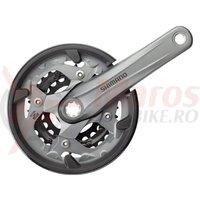 Pedalier Shimano Alivio FC-M4000 40x30x22T 175 mm 9v octalink cu CG