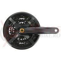 Pedalier Shimano Altus FC-M351 44x32x22T 170mm 3x9v negru cu CG