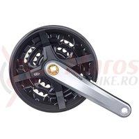 Pedalier Shimano Altus FC-M351 44x32x22T 175mm 3x9v argintiu cu CG