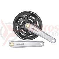 Pedalier Shimano FC-M311-S 170mm 42*32*22T 7/8v cu CG Altus gri