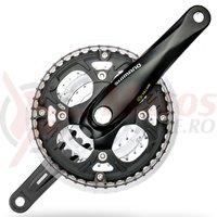 Pedalier Shimano FC-M443 48x36x26T brat 175mm 9v octalink cu CG negru