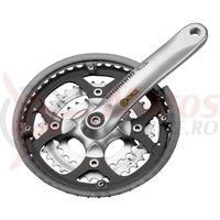 Pedalier Shimano FC-M470 48x36x26T brat 175 mm 9v octalink hollowtech cu CG argintiu