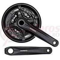 Pedalier Shimano FC-MT210-3 3x9v brat170 mm 44x32x22T fara BB negru