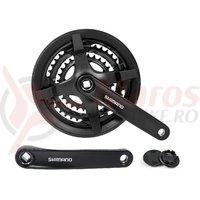 Pedalier Shimano Tourney FC-TY301 42x34x24T brat 170 mm pentru 6/7/8v cu CG negru