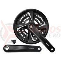 Pedalier Shimano Tourney TX FC-TX801 22/32/42T 165mm negru cu CG