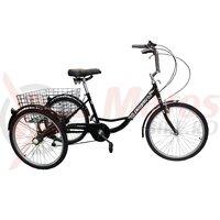 Triciclu Pegas Senior 6v negru stelar