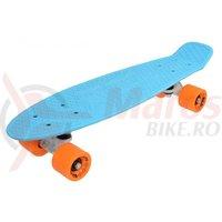 Penny Board Dolce 22 inch bleu cu portocaliu