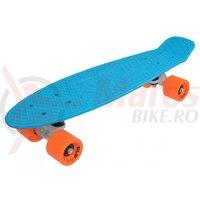Penny Board Slv Neon 22 inch bleu cu portocaliu