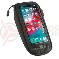 Borseta telefon Comfort S KLICKfix cu adaptor transparent/black, cu redat.coupling