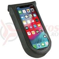 Borseta telefon Tour S KLICKfix incl. adaptor transparent/negru, w/ rotat.coupling