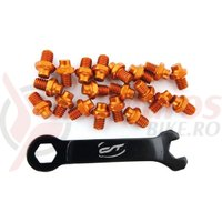 Pini pedale CONTEC R-pins Select- orange 20buc - incl. cheie