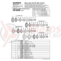 Pinioane Shimano CS-6500 21-23-25T