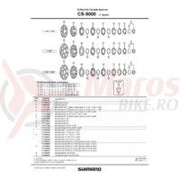 Pinioane Shimano CS-9000 19-21-23T pentru 11-28T