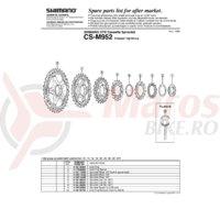 Pinion Shimano 14T pentru CS-M952