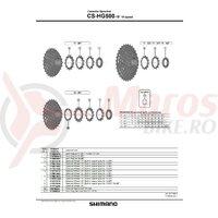 Pinion Shimano CS-HG500-10 11t (tip cu distantier pe pinion) pt. 11-34T