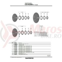 Pinion Shimano CS-HG500-10 12t (tip cu distantier pe pinion) pt. 11-32T