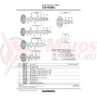 Pinion Shimano CS-HG61-9 12T (tip cu distantier pe pinion)