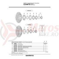 Pinion Shimano CS-M760 12t (tip cu distantier pe pinion)