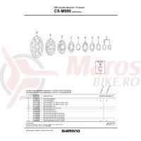 Pinion Shimano CS-M980 11T (distantier pe pinion)