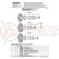 Pinion Shimano Deore XT CS-M750 15T