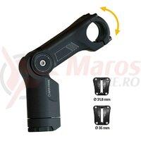 Pipa ghidon By.Schulz AlphaProSDS ajustabila black, 80mm, 31.8mm