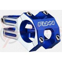 Pipa Funn Funnduro DJ 31,8mm L45mm albastru anodizat cu laterale argintii