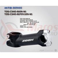 Pipa Zoom TDS-C340-8 alu L120 25,4mm unghi 15 neagra