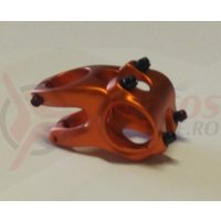 Pipa Zoom Tequila TDS-RD605-8Fov alu 3D forjat 31,8mm ridicare -12 L40mm portocaliu anodizat