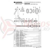 Piulita cu flansa Shimano CBE-110